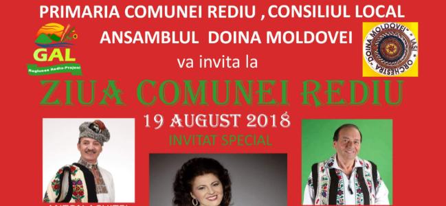 Ziua Comunei REDIU – 19 august 2018